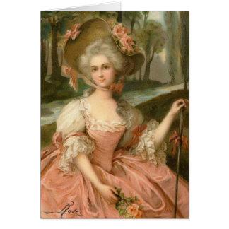 Madame rose victorienne carte de vœux
