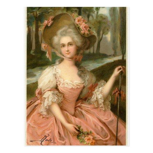 Madame rose victorienne cartes postales