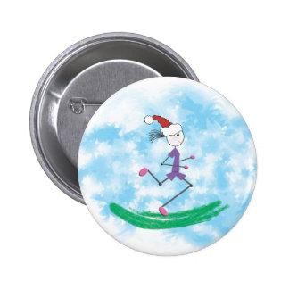Madame Runner de vacances de Noël Badge