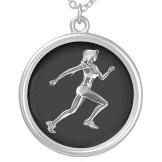 Madame Runner Necklace des femmes Pendentif Rond