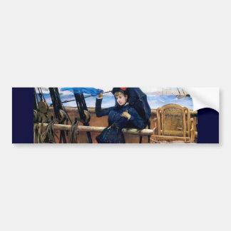 Madame Travelling par la peinture de mer Autocollants Pour Voiture