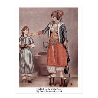 Madame turque With Maid By Jean-Etienne Liotard Cartes Postales