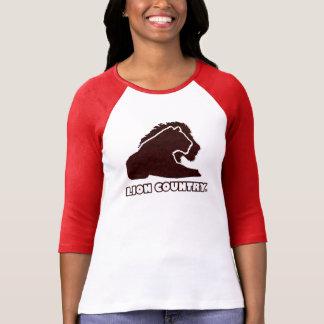 Madame unique d'or de pays rouge de lion, T-shirts