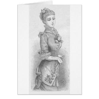 Madame victorienne carte de vœux