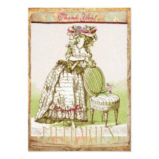 Madame victorienne carte de remerciements de Mys Carton D'invitation 12,7 Cm X 17,78 Cm