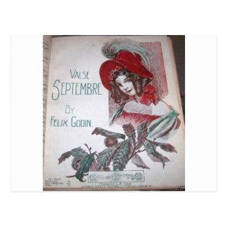 Madame victorienne cartes postales