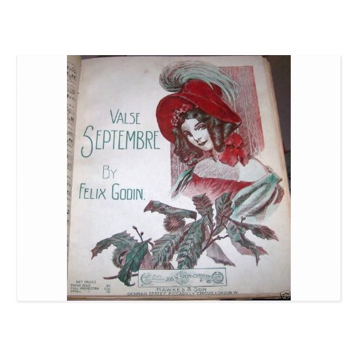 Madame victorienne carte postale