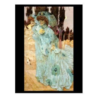 Madame victorienne comme carte postale de la mort