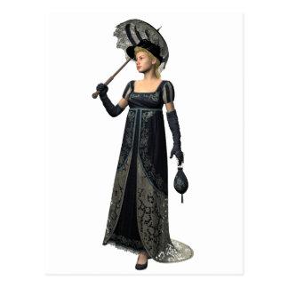 Madame victorienne dans le noir cartes postales