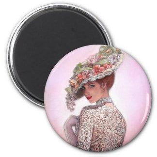 Madame victorienne effarouchée Betty Lu Aimant Pour Réfrigérateur