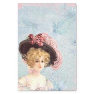 Madame victorienne en papier de soie de soie fait