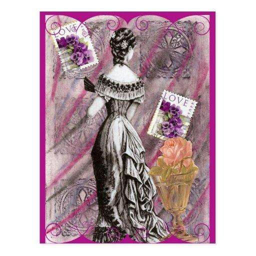 Madame victorienne Love Cartes Postales