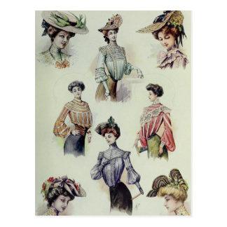 Madame victorienne - mode française vintage - carte postale
