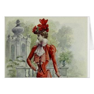 Madame victorienne - mode française vintage - Dres Carte De Vœux