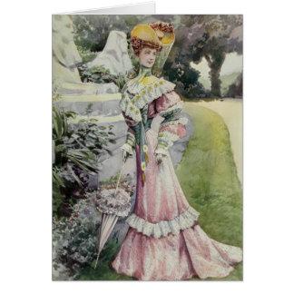 Madame victorienne - mode française vintage - Dres Cartes De Vœux