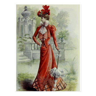 Madame victorienne - mode française vintage - Dres Carte Postale