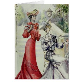 Madame victorienne - mode française vintage - robe cartes de vœux