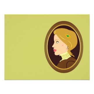 Madame victorienne Portrait Faire-part Personnalisé