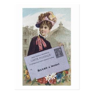 Madame victorienne Postcard de Postale de carte d' Cartes Postales