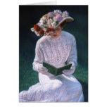Madame victorienne Reading de beaux-arts élégants  Cartes