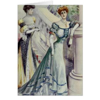 Madame victorienne - robe Mode-Bleue française Carte De Vœux