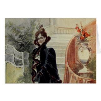 Madame victorienne - robe Mode-Noire française Carte De Vœux