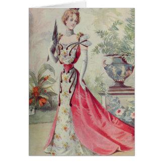 Madame victorienne - robe Mode-Rose française Cartes