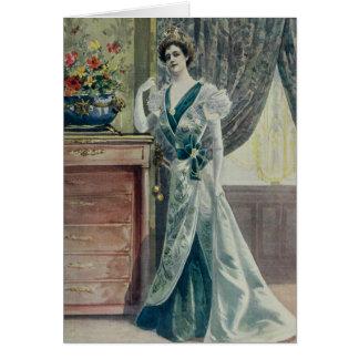 Madame victorienne - robe Mode-Verte française Carte De Vœux