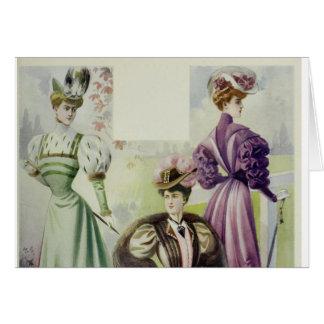 Madame victorienne - robe vintage de Mode-Brown de Carte De Vœux
