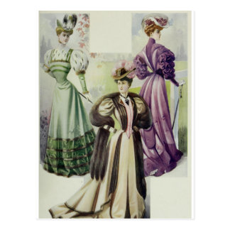 Madame victorienne - robe vintage de Mode-Brown de Carte Postale