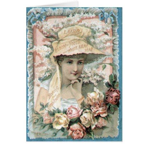 Madame victorienne vintage Everyday Card d'annonce Carte De Vœux