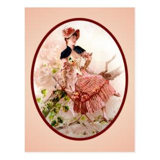 Madame victorienne vintage Postcard Carte Postale