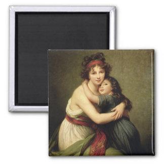 Madame Vigee-Lebrun et sa fille Magnet Carré