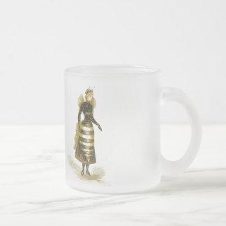 Madame vintage d'abeille mug en verre givré