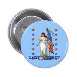 Madame vintage Liberty avec le drapeau américain Badges