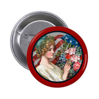 Madame vintage Liberty_Button Badge