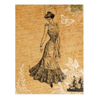 Madame vintage Postcard Cartes Postales