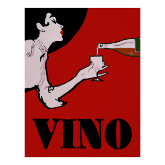 Madame vintage Posters de vin de Vin