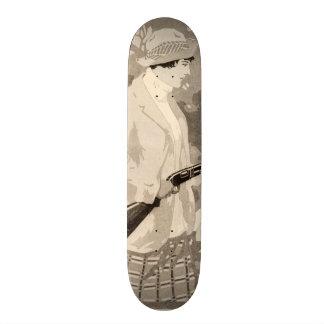 Madame vintage Skateboard d arme à feu d armes à f