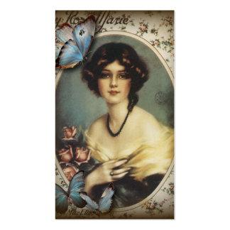 Madame vintage snob Fashion de Paris de papillon Carte De Visite Standard