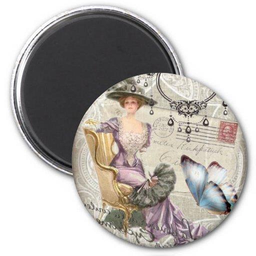 Madame vintage vintage Fashion de Paris de lettre  Magnets Pour Réfrigérateur