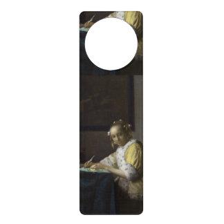Madame Writing une lettre par Johannes Vermeer Cartons De Porte