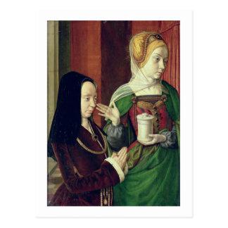 Madeleine de la Bourgogne s'est présentée par St Carte Postale