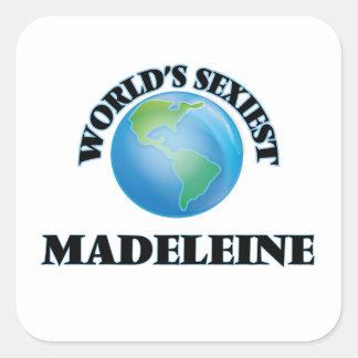 Madeleine la plus sexy du monde sticker carré
