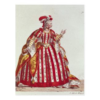 Mademoiselle Dumesnil dans le rôle de Carte Postale
