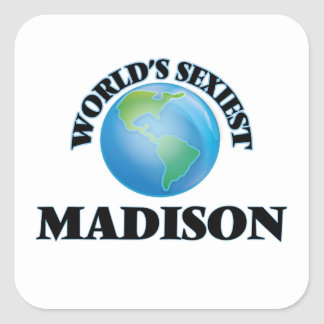 Madison le plus sexy du monde sticker carré