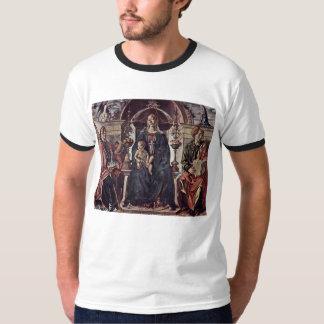 Madonna a couronné St Petronius et St John T-shirt
