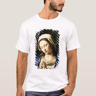 Madonna à la prière (huile sur la toile) t-shirt