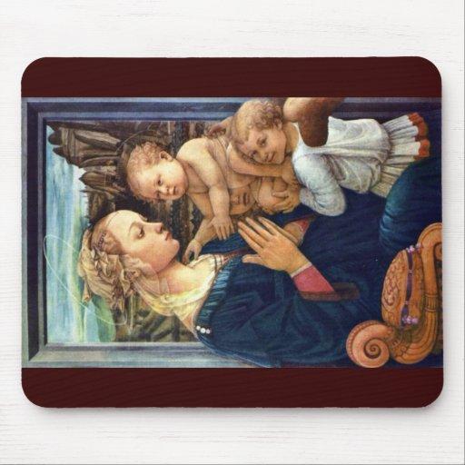 Madonna avec deux anges par Lippi ATF Filippo Tapis De Souris