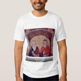 Madonna couronné avec huit anges, quatre prophètes t-shirt